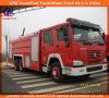 De Vrachtwagen van de Brandbestrijding van de Tank van het Schuim van het Water van Sinotruk HOWO 6X4 266HP