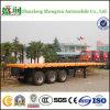 Shengrun 3 Semi Aanhangwagen van de Container van de Voertuigen van de As 40FT Flatbed voor Verkoop