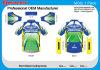 Rapido-Essiccamento Jersey di riciclaggio tagliata corsa di marchio dell'OEM Customzied del ODM