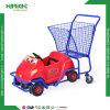 Boodschappenwagentje van de Jonge geitjes van de Kinderen van de supermarkt het Plastic