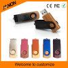 Mecanismo impulsor de madera del flash del USB del tornado con insignia