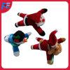 Jouet animal de peluche promotionnelle en gros avec le modèle de Santa et le modèle de cerfs communs