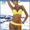 Bikini jaune coloré de mode pour des femmes