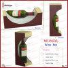 Supporto di bottiglia decorativo di cuoio del vino dell'unità di elaborazione di Winepackages (6015)