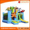 Dschungel-aufblasbares springendes federnd Schloss mit Plättchen-kombiniertem Spielzeug (T3-618)