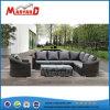 Diseño moderno marco de metal exterior sofá mimbre Muebles de salón sofás