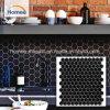 La pared de fondo negro hermoso patrones de mosaico Mosaico forma hexagonal