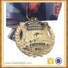 Latón Antiguo Dia Casting Latina Medalla Pin Emblema 911