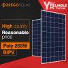 Morego trasmissione chiara solare di vetro del comitato 265W 10% del doppio del grado una poli