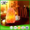 Lampe de l'Himalaya normale de sel de cristal de roche avec la base en bois