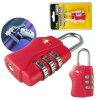 Tsa 관례 안전 자물쇠 글로벌 판매 Tsa338 3bit 패스워드 자물쇠 수화물 통제 짐 포장 자물쇠 세관 검사 자물쇠
