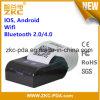 Impresora termal sin hilos móvil androide del recibo del IOS WiFi Bluetooth
