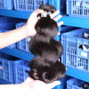 加工されていなく完全なクチクラボディ波のブラジルのバージンの人間の毛髪