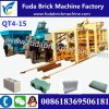 Fuda Qt4-15 Hydraformの石のブロック機械Econcreteの煉瓦作成機械