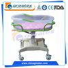 아BS 조정가능한 고도를 가진 플라스틱 신생 아기 어린이 침대 (GT-BB3302)
