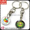 Kundenspezifische Metalllaufkatze-Münze Keychains mit Firmenzeichen