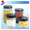 4PC Metal Lid Glass Jar Set