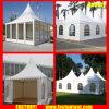 Weißes Aluminium Belüftung-hohe Spitzegazebo-Zelt für 50 Leute Seater Gast