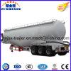 3 ESSIEUX 40000L Faible densité de réservoir de ciment en vrac de carbone en poudre semi-remorque pour la vente (capacité en option)