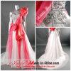 Varredura Organza/pincel Vestido de festa do comboio/vestido de casamento (M-103)