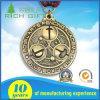 Médaille de forme ronde avec le placage en bronze antique avec le modèle personnalisé