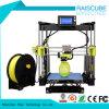 Raiscube 아크릴 급속한 시제품 Fdm 2 바탕 화면 DIY 3D 인쇄 기계