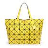 señora geométrica rombal Handbag (A043-11) de la PU del amarillo de la talla 7X8