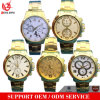 Orologio di lusso dell'uomo d'affari dello zaffiro placcato oro su ordinazione moderno del IP della vigilanza dell'uomo dell'acciaio inossidabile della vigilanza di marca delle vigilanze del cronografo della vigilanza di moda di modo Yxl-115