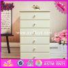 2016 Comercio al por mayor dormitorio armarios de madera, armarios de madera blanca de alta calidad, Mejor diseño armarios de madera de 6 Cajones W08H065