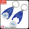Дешевый изготовленный на заказ пластичный держатель Keychains монетки