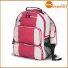 ピンクの女の子の中間膜の倍カラーショルダー・バッグの学校旅行バックパック