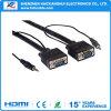 DC3.5 + HD 15 p. m. aan DC3.5 + VGA van HD 15 p. m.