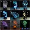 Tisch-Lampen-Noten-des Schalter-3D Acryl-LED Nachtlicht des heißer Verkaufs-neues Entwurfs-LED Illusion-Fantasie-Licht-Nachttisch-der Lampen-