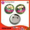 Insigne nommé rond de bouton de Pin de logo de Promotion Custom Metal Company