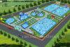 Het nieuwe Park van het Water van het Ontwerp vanaf het Daadwerkelijke Gebied van Cliënten