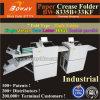 Half/Z/Letter/Offset/Double meios/o vinco dobra da porta/porta do vinco perfuram a régua Beijar-Cortaram o papel de máquina de dobramento