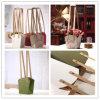 150g natürlicher Brown Packpapier-Beutel-wasserdichter Beutel für Blumen-verpackenträger-Einkaufen-Geschenk-Beutel