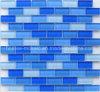 Azulejo de mosaico cristalino azul del ladrillo de cristal para la piscina