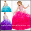 Отбортовывать платье Fl2151 девушки цветка Organza мантии шарика торжества девушки