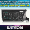 ホンダ都市2014年のCarのためのWitson Car DVD DVD GPS 1080P DSP Capactive Screen WiFi 3G Front DVR Camera