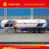 2016 Hot 50000L LPG Semi-remorque à gaz pour le transport de Nigéria