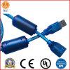 Câble de fil de armature multicolore transparent d'USB a/M-Bf