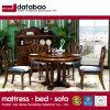 Estilo americano mesa de jantar redonda de madeira para mobiliário doméstico (como836)