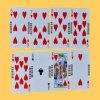 Le code barres noir de carte de jeu de papier de faisceau carde des cartes de tisonnier