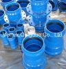 En545/598 Ductile Iron Double Socket Taper pour PVC Pipe