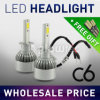 Fari H1, H3, H4, H7, H8, H9, PANNOCCHIA 1pair di vendita LED C6 dell'automobile di H11 6000K 3000K LED