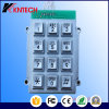 Teclado quadrado industrial do telefone do teclado da montagem de Pannal com 12 chaves