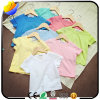 Maglietta pura di colore del cotone personalizzabile dei bambini