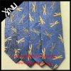 Los hombres manera hecha a mano de encargo 100% seda tejida jacquard del lazo