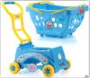 Carro do bebê do brinquedo do jogo de crianças para a simulação da injeção do carro de compra masculino do supermercado da menina